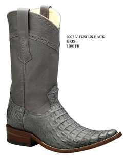 Cuadra Boots - Full Fuscus Caiman Belly - Versace Toe - Gris