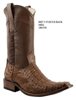 Cuadra Boots - Full Fuscus Caiman Belly - Versace Toe - Honey