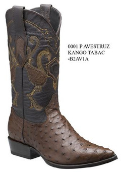 Cuadra Boots - Full Quill Ostrich Leather-J-Puntal-Tabacco