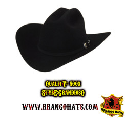 "RRango Hats - 500X ""Grandioso"" Black SKU:RRMF7065BK"
