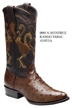 Cuadra Boots - Full Quill Ostrich Leather - Semi Oval - Tabacco