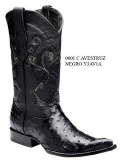 Cuadra Boots - Full Quill Ostrich - Chihuahua Toe - Black