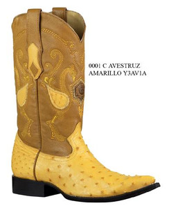 Cuadra Boots - Full Quill Ostrich - Chihuahua Toe - Buttercup