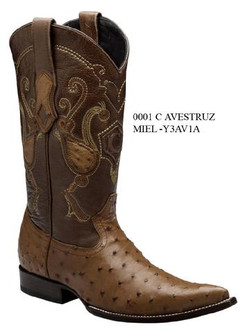 Cuadra Boots - Full Quill Ostrich - Chihuahua Toe - Brandy