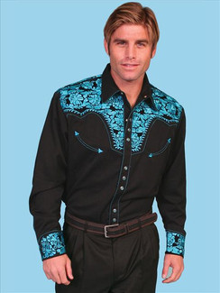 Scully Shirt - Turquoise- P634