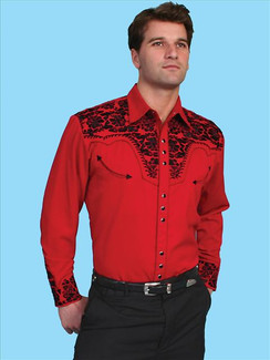 Scully Shirt - Red - P634