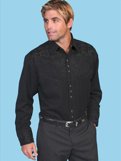 Scully Shirt - Jet Black - P634