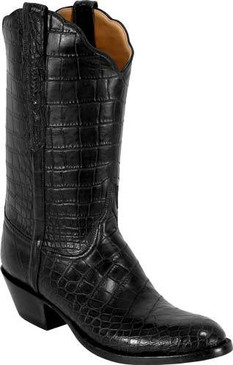 Lucchese Classics - American Alligator Garment Belly  Bias Cut - Black - RR-L1121