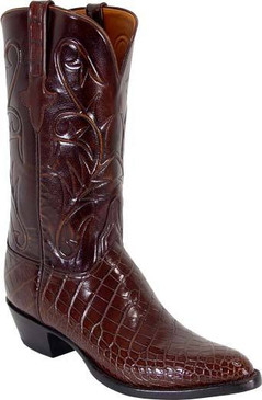 Lucchese Classics - American Alligator Belly Bias Cut - Sport Rust - RR-L1080