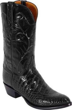 Lucchese Classics - American Alligator Belly Bias Cut - Black - RR-L1079