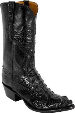 Lucchese Classics - American Alligator Hornback Head Cut - Black - RRL1013