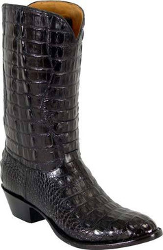 Lucchese Classics - American Alligator Hornback Head Cut - Black  Cherry Brush Off - RR-L1001