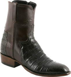 Lucchese Classics - Short Boots - Classic Pony Matador - Ultra Belly Caiman - Chocolate - RR-F5059