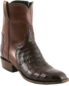 Lucchese Classics - Short Boots - Classic Pony Matador - Ultra Belly Caiman - Sienna - RR5058