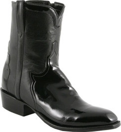 Lucchese Classics - Classic Pony Matador with Short Band - Black Patent Calf - RR-F5056
