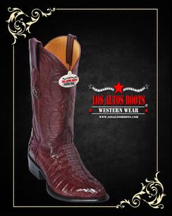 Los Altos Boots - J-Toe - Caiman - Burgundy
