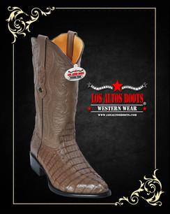 Los Altos Boots - J-Toe - Caiman - Mink