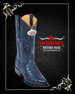 Los Altos Boots - J-Toe - Caiman - Navy Blue
