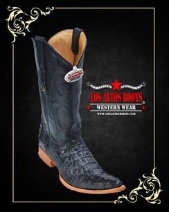 Los Altos Boots - 3x Toe - Caiman Tail - Black