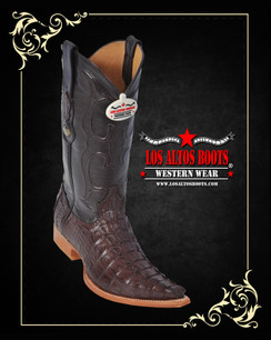 Los Altos Boots - 3x Toe - Caiman Tail - Brown