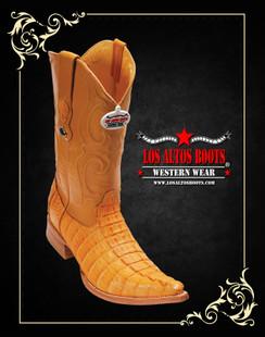 Los Altos Boots - 3x Toe - Caiman Tail - Buttercup