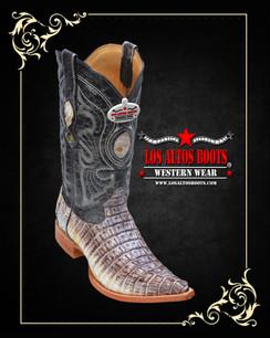 Los Altos Boots - 3x Toe - Caiman Tail - Natural