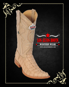 Los Altos Boots - 3x Toe - Caiman Tail - Oryx
