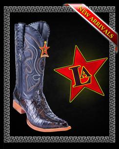Los Altos Boots - 3x Toe - Caiman Tail - Black Brown