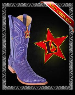 Los Altos Boots - 3x Toe - Caiman Tail - Purple