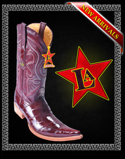 Los Altos Boots - 6x Toe - Eel - Burgundy