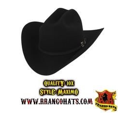 "RRango Hats - 10X ""Maximo"" Black 952"