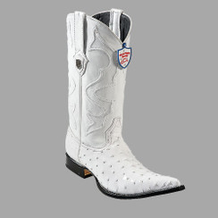 Wild West Boots - Ostrich - 3x Toe - White