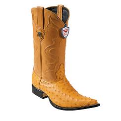 Wild West Boots - Ostrich - 3x Toe - Buttercup