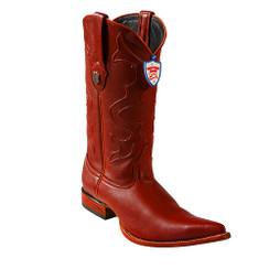 Wild West Boots - Elk - 3x Toe - Cognac