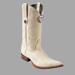 Wild West Boots - Elk - 3x Toe - Winter White