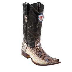 Wild West Boots - Caiman Tail - 3x Toe - Natural