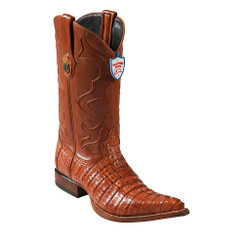 Wild West Boots - Caiman Tail - 3x Toe - Cognac