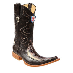 Wild West Boots - Ostrich Leg with Deer - 6x Toe - Natural