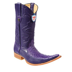 Wild West Boots - Ostrich with Deer - 6x Toe - Purple