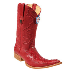 Wild West Boots - Caiman Tail with Deer - 6x - Red