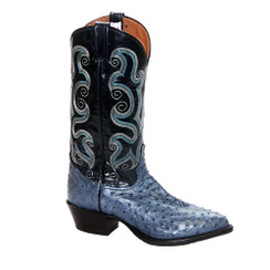 Denim - Tony Lama Full Quill Ostrich Boot - J-Toe