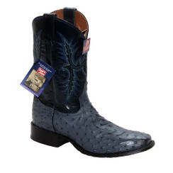 Denim - Tony Lama Ostrich Boot - HMI French Toe