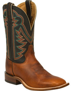 Tony Lama Tan Faded Ranch Cowboy Boots - Square Toe RR7980