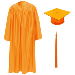 Orange Little Scholar™ Cap, Gown & Tassel + FREE DIPLOMA