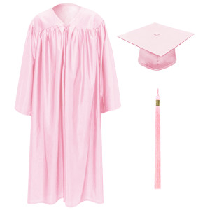Pink Little Scholar™ Cap, Gown & Tassel + FREE DIPLOMA