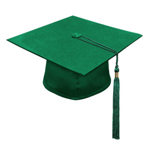 Green Little Scholar™ Cap & Tassel