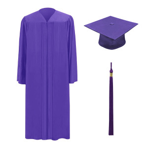 Purple One Way™ Cap, Gown & Tassel