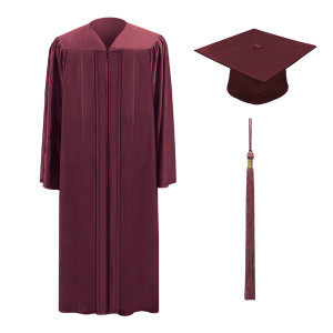 Maroon One Way™ Cap, Gown & Tassel