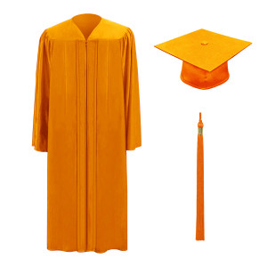 Orange One Way™ Cap, Gown & Tassel