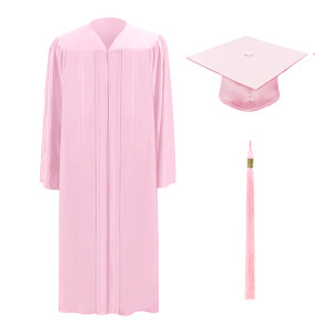 Pink One Way™ Cap, Gown & Tassel